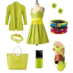 Acid green..., created by rkimball on Polyvore