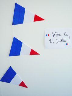 Joyeux 14 juillet!    DIY Bastille Day banner