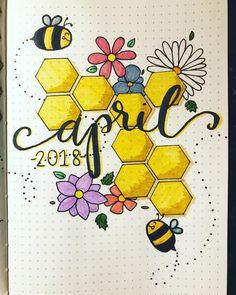 April 2018  • • • #aprilbujo #april2018 #uniballsigno #springbujo #calligraphy #zebramildliner #bujomonthly #bujoaddict #bujo…