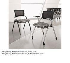 National Office Furniture - Jiminy Nesting Chairs #NationalOffice #FurnitureWithPersonality