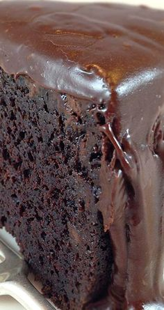 Famous Brick Street Chocolate Cake ~ This luscious chocolate cake is everything you dream of in a chocolate cake - Rich and delicious... And a to-die-for ganache frosting.