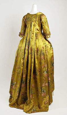 Robe à la Française Date: 1730–50 Culture: French Medium: silk Accession Number: C.I.64.32.1