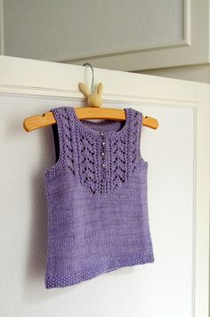 "berlilechat's Louise - free pattern ""Louise"" by Aurore Louise is a top-down baby vest knitted in the round and almost seamless."