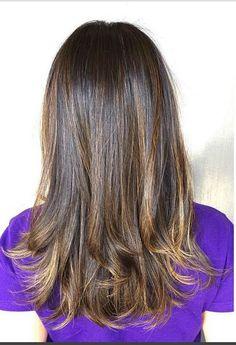 brunette 'sombre' highlights