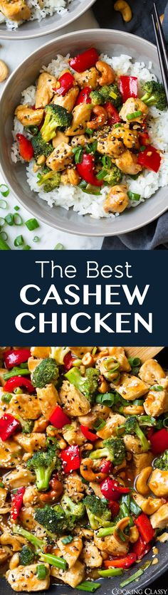 This Cashew Chicken is a Chinese takeout classic that's sure to please! Delicious flavors and lots of veggies!