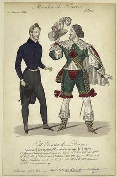 """""""Modes de Paris"""", Petit Courrier des Dames, January 1834; NYPL 802081"""