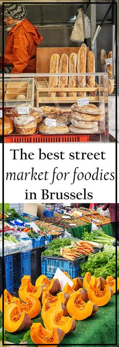 [orginial_title] – MARY JAHNKE The best street market for foodies in Brussels Do you choose your travel plans based just on the food? Then find out which is the best street market for foodies in Brussels! Bruges, Belgium Food, Travel Belgium, To Go, Fast Easy Meals, Brussels Belgium, Eurotrip, European Travel, European Vacation