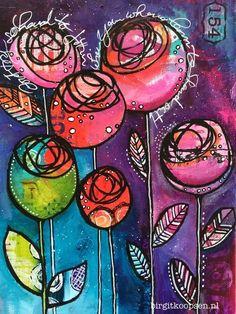 Art journal Birgit Koopsen Source by connieneel Kunstjournal Inspiration, Art Journal Inspiration, Art Floral, Art Altéré, Tableau Pop Art, Art Du Collage, Wal Art, Mixed Media Journal, Art Journal Pages