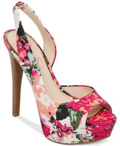 Jessica Simpson Sabella Slingback Platform Pumps | macys.com