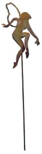 Natural Rust Rustic Hydrangea Plant Stake 150cm high Ironwork Garden Feature