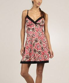 Loving this Pink Floral Empire-Waist Surplice Dress on #zulily! #zulilyfinds