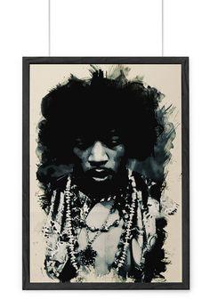 Jimmy Hendrix Artistic Poster