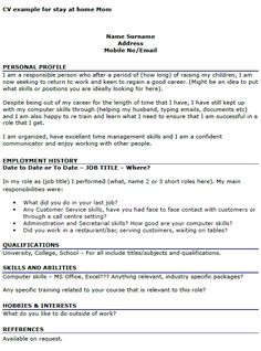 resume examples stay home mom sample for how write article review apa style format college papers - Apa Format Resume