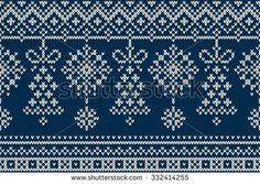 Christmas and New Year Background Winter Holiday Seamless Knitting Pattern. Christmas and New Year Background. Knitting Charts, Baby Knitting Patterns, Knitting Stitches, Crochet Patterns, Crochet Ideas, Christmas Stockings, Christmas Sweaters, Fair Isle Chart, Crochet Cross