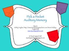 Pick A Pocket Auditory Memory