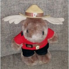 Vintage Toys - Vintage R. P / Royal Canadian Mounted Police Moose Mascot. for sale in Vereeniging Vintage Toys, Moose, Police, Africa, Animals, Old Fashioned Toys, Animales, Animaux, Mousse