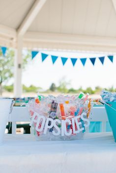Must-Have at Your Summer Birthday Party? Popsicles, of course! Birthday Party At Park, Picnic Birthday, Summer Birthday, Boy First Birthday, First Birthday Parties, Birthday Party Themes, First Birthdays, Birthday Ideas, First Birthday Activities