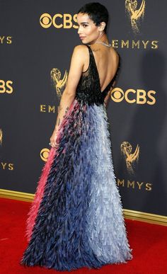 Emmy Awards Dresses That Are Even Better from Behind - Zoe Kravitz in Dior