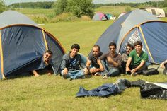 The campsite during the Dutch Solar Challenge 2014!