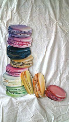 Macarons, frescolithe op mdf