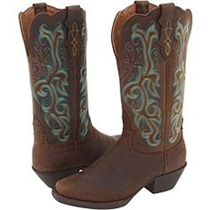 turquoise Justin boots