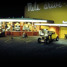 American Graffiti was first released in theaters in Classic Films, Classic Cars, Hollywood Knights, American Graffiti, Kustom Kulture, Car Pictures, Car Pics, Drag Racing, Hot Cars