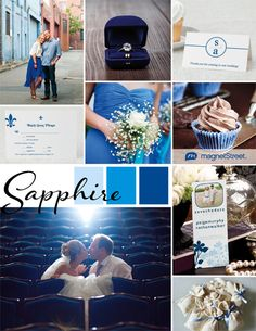 Blue Wedding Inspiration from MagnetStreet Weddings  - sapphire blue wedding (gorgeous!)
