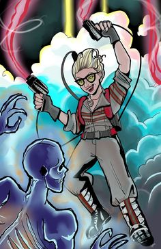 By Sophie Scruggs Ghostbusters 2016, Character Aesthetic, Character Design, Kate Mckinnon, Movies And Tv Shows, Movie Tv, Safety, Boards