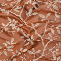 British Imported Rust Leafy Jacquard Keep your decorating skills sharp and avoid getting rusty by using this British Imported Rust Leafy Jacquard! The brightly colored background holds a minimalist foliage pattern in the foreground for a truly cap Motif Kimono, Rust, British, Minimalist, Beautiful, Color, Design, Colour