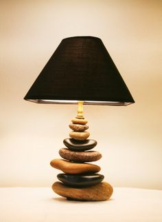 Stacked Rock Lamp from the Shores of the by TheHiddenCardinal, $150.00