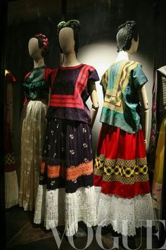 Frida's wardrobe on display in Mexico city 2013