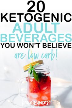 20 Refreshing Low Carb Alcoholic Drinks to Help You Unwind After a Long Day of Dieting – Gesundes Abendessen, Vegetarische Rezepte, Vegane Desserts, Low Carb Cocktails, Low Sugar Alcoholic Drinks, Low Carb Mixed Drinks, Mixed Drinks Alcohol, Drinks Alcohol Recipes, Healthy Drinks, Diet Drinks, Refreshing Alcoholic Drinks, Alcoholic Drinks For Diabetics