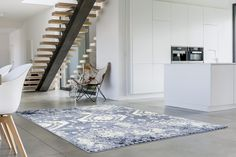 Blue Distressed Rug | Moroccan South Western Carpet | Discount Rugs - Bargain Area Rugs