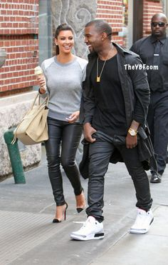 Kim Kardashian and Kanye West, We Love Kim's easy style! - #Fashion www.ShopSiwel.com