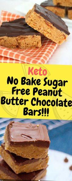 Keto No Bake Sugar Free Peanut Butter Chocolate Bars - One of food