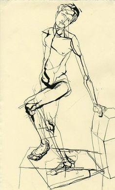 Marcos Tholander - Estudio de una figura masculina.