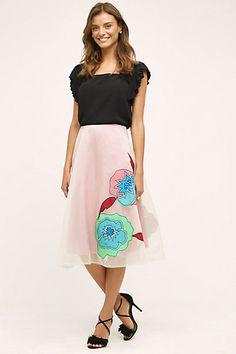 Casablanca Silk Skirt by Plenty by Tracy Reese #anthropologie