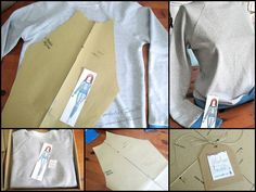 Sweatshirt with a raglan sleeve for customer. Pattern / Sewing by Iwakki.