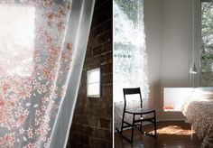 Nectar Curtain Fabric and Until Dawn Curtains by Tord Boontje - LOVE his designs