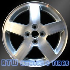 """Chevy Cobalt wheels for sale 2005-2006. 16"""" Machined Silver rims 5214 - http://www.rtwwheels.com/store/shop/chevy-cobalt-wheels-for-sale-machined-silver-5214/"""
