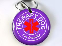 Service Dog Customized pet tag Purple Therapy dog cross service animal ** You can find out more details at the link of the image. (This is an affiliate link and I receive a commission for the sales)