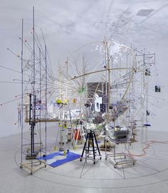 Sarah Sze, Triple Point, 2013. Vista dell'installazione al Padiglione statunitense. Photo Tom Powel