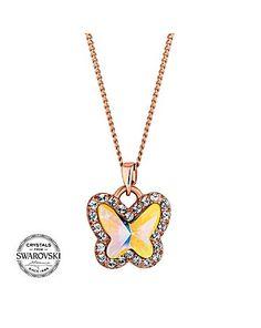 Jon Richard pave butterfly necklace