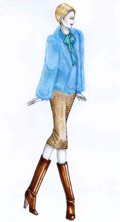 Turquoise fur on Behance