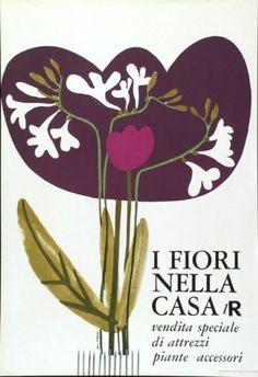 La Rinascente, grandi magazzini - Lora Lamm -  1958 - Vendita speciale di attrezzi piante accessori
