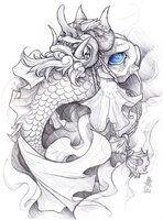 zumi: tattoo sketchbook: 012 by fydbac on DeviantArt Koi Dragon Tattoo, Koi Fish Tattoo, Tattoo Sketchbook, Tattoo Sketches, Sketchbook Project, Japanese Tattoo Art, Japanese Tattoo Designs, Samurai Tattoo, Samurai Art