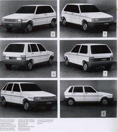 OG | 1984 Fiat Uno | Design Proposals - Full size polystyrene mock-ups