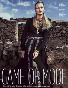 Game Of Mode: Tereza Smejkalova By Mikael Schulz For Grazia France 4th July 2014