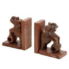 Soap Stone bookends Elephants Brown Vintage inspired 5 inches ShalinIndia,http://www.amazon.com/dp/B00GMH6OTG/ref=cm_sw_r_pi_dp_TRPktb0KKNZ9VWA8