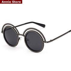 Beach Sunglasses, Uv400 Sunglasses, Luxury Sunglasses, Round Sunglasses, Sunglasses Women, Round Mirrors, Wholesale Fashion, Lens, Pearls